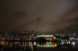 BC PLACE STADIUM NORTHERN LIGHTS DISPLAY