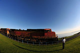 BNSF LOCOMOTIVES COAL TRAIN