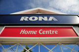 01 August 2012 - A sign for RONA is seen at the entrance to a mall parking lot, at a store location in Surrey, B.C., Canada. Credit: Adrian Brown - N49Photo.
