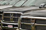 26 August 2012 - Dodge Ram trucks are seen in the lot at White Rock Chrysler Ltd., in Surrey, B.C., Canada. Credit: Adrian Brown - N49Photo.
