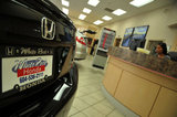 23 August 2012 - A Honda vehicle is seen in the showroom at White Rock Honda, in Surrey, B.C., Canada. Credit: Adrian Brown - N49Photo.