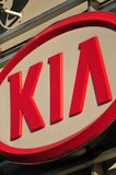 30 August 2012 - The Kia Motors name and logo is seen on the exterior of Applewood Kia, in Langley, B.C., Canada. Credit: Adrian Brown - N49Photo.