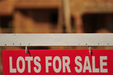 07 September 2012 - A sign advertising lots for sale is seen at a construction site in Surrey, B.C., Canada. Credit: Adrian Brown - N49Photo.