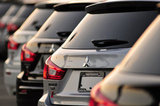 26 September 2012 - Mitsubishi vehicles are seen in the lot at the Flag Mitsubishi dealership, in Surrey, B.C., Canada. Credit: Adrian Brown - N49Photo.