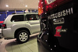 26 September 2012 - Mitsubishi vehicles are seen in the showroom at the Flag Mitsubishi dealership, in Surrey, B.C., Canada. Credit: Adrian Brown - N49Photo.