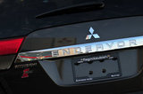 26 September 2012 - The Mitsubishi name is seen on the back of a vehicle in the lot at the Flag Mitsubishi dealership, in Surrey, B.C., Canada. Credit: Adrian Brown - N49Photo.