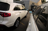 22 September 2012 - Acura MDX vehicles are seen in the lot at the Acura of Langley dealership, in Langley, B.C., Canada. Credit: Adrian Brown - N49Photo.