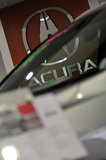 22 September 2012 - The Acura name and logo is seen in the showroom at the Acura of Langley dealership, in Langley, B.C., Canada. Credit: Adrian Brown - N49Photo.